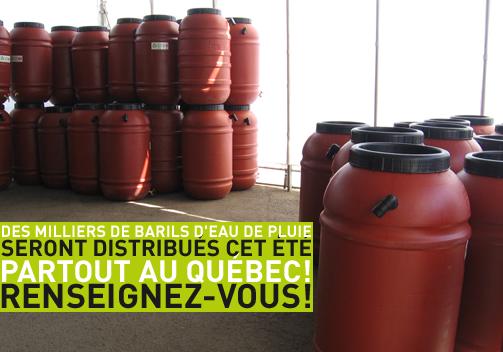 Distribution baril d'eau de pluie Été 2012