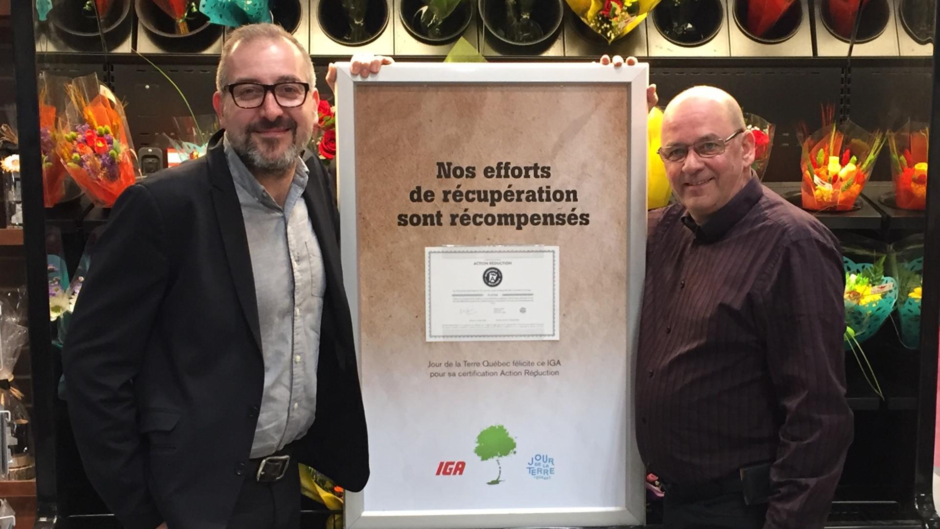 20170301_IGA_extra_Chouinard_Fils_Denis_Dupont_Action_Reduction_jour_de_la_terre_Quebec